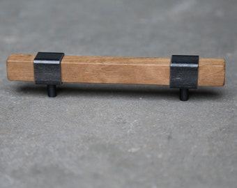 1 Rustikaler Länglicher Griff Schwarz Klassischer Möbelgriff