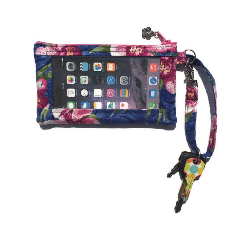 promo code d83e7 957c8 iPhone Wallet Case, iPhone 5 Wristlet, Womens Wallet, Smartphone Wristlet,  Cell Phone Bag, Small Purse, Hawaiian, Floral, Text and Tote®