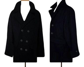 5b9b7d8e28cdd Men's Coat, Winter Coat, Wool Coat, Pea Coat, Black Coat, Mens jacket, XL,  Oversize, Outdoor, Sailor Coat, Boating, Snow   Eddie Bauer- TGXL