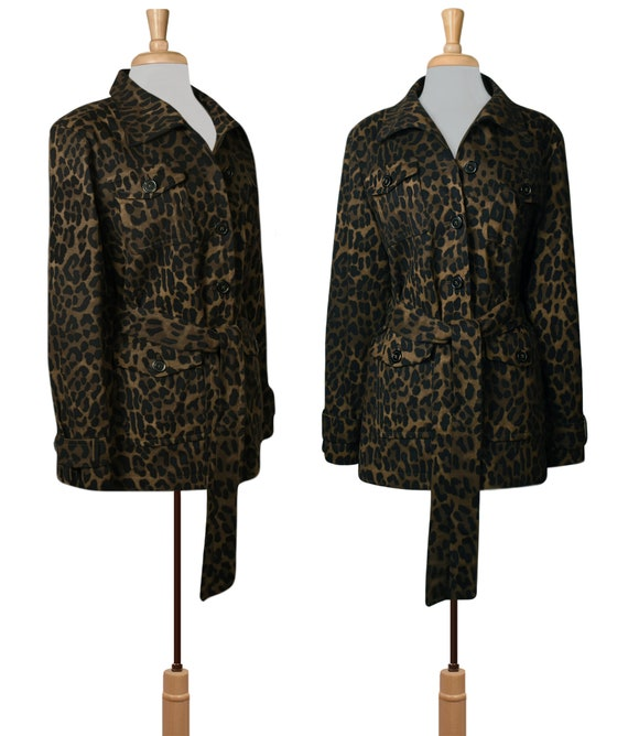 Women's Jacket- Leopard Jacket- Leopard Print Jac… - image 3