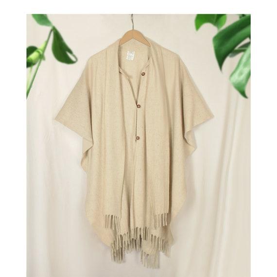 Wool Shawl- Wool Blanket Coat- Wrap Shawl- Wool Ca