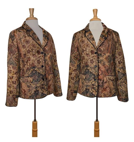 Womens Tapestry Jacket- Hippie Jacket- Boho Jacket