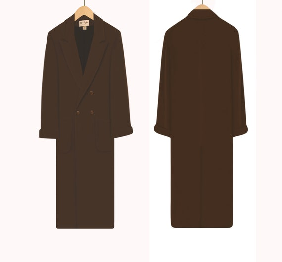 Women's Vintage Coat- Wool Coat- Long Coat- Maxi … - image 6