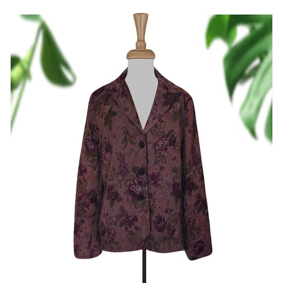 Vintage Tapestry Jacket- Tapestry Coat- Floral Jac