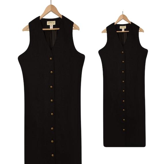 Shift Dress- Wool Dress- Wool Maxi Dress- Business