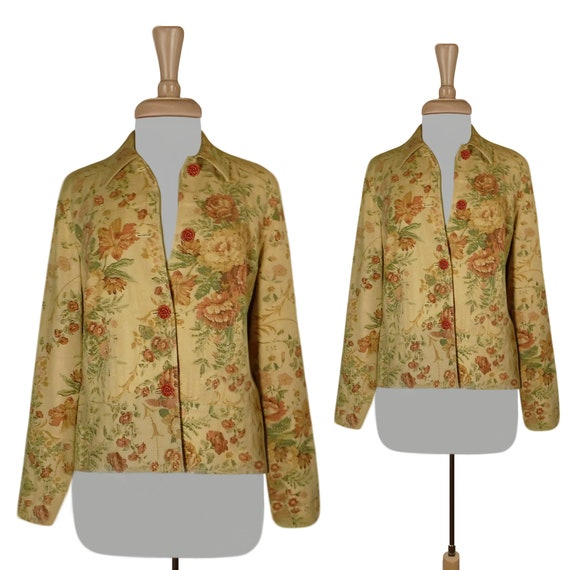 Tapestry Jacket- Tapestry Coat- Linen Jacket- Yell