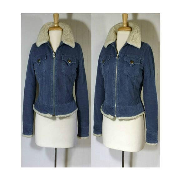 Womens Coat, Corduroy Jacket, Sherpa Jacket, Cropp
