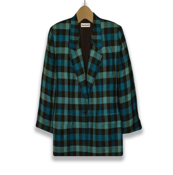 Women's Blazer- Linen Jacket- Linen Blazer- Plaid… - image 3