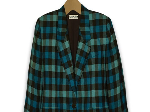 Women's Blazer- Linen Jacket- Linen Blazer- Plaid… - image 7