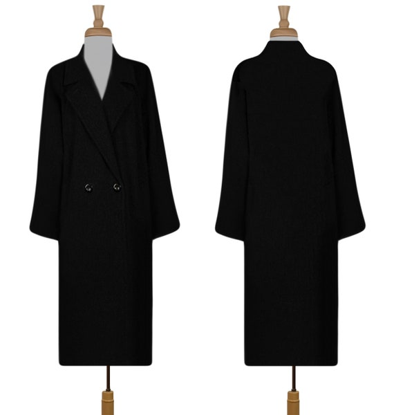Women's Wool Coat- Winter Coat- Long Coat- Maxi C… - image 8