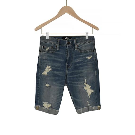 BONGO Vintage Acid Wash Cut Off Shredded Distressed Denim High Waist Jean Shorts