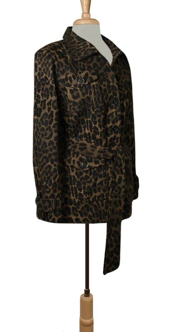 Women's Jacket- Leopard Jacket- Leopard Print Jac… - image 4