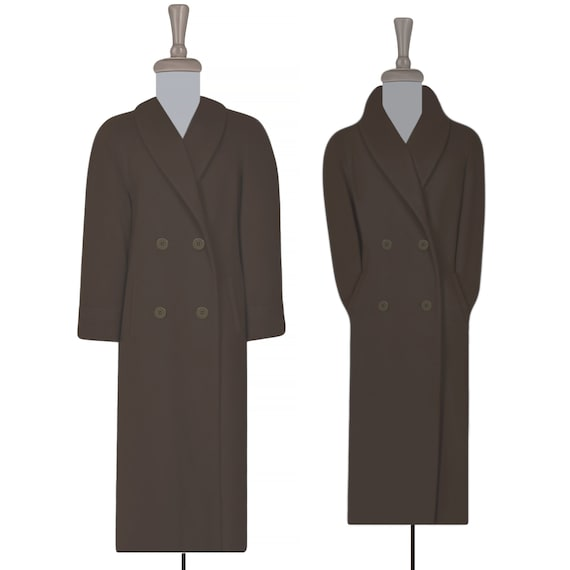 Womens Wool Coat- Long Coat- Maxi Coat- Long Wool