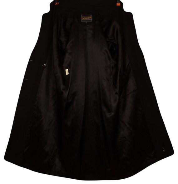 Vintage 70s Pendleton Coat- Womens Wool Coat- Bla… - image 10