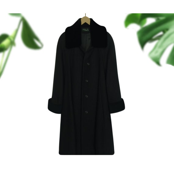 Women's Wool Coat- Swing Coat- Winter Coat- Black