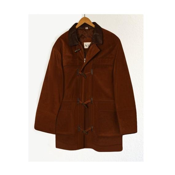 Leather Jacket Men- Winter Coat- Brown Leather Jac