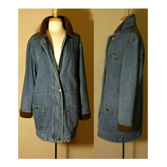 Long Jean Jacket- Denim Coat- Denim Jacket- Blue … - image 2