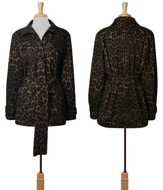 Women's Jacket- Leopard Jacket- Leopard Print Jac… - image 5