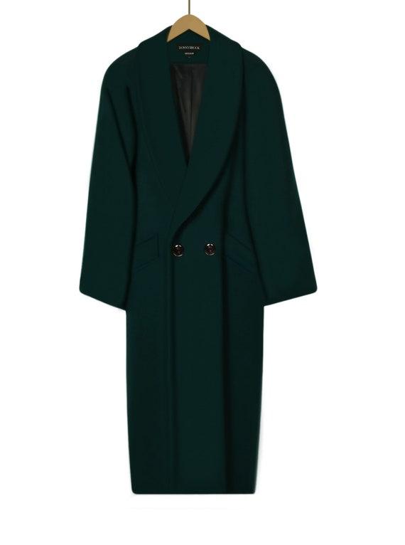 Wool Coat Women- Green Wool Coat- Womens Winter C… - image 2