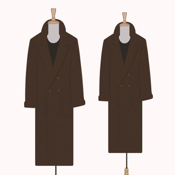 Women's Vintage Coat- Wool Coat- Long Coat- Maxi C