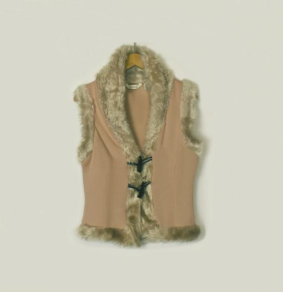 Faux Fur Vest- Faux Fur Jacket- Sleeveless Jacket-