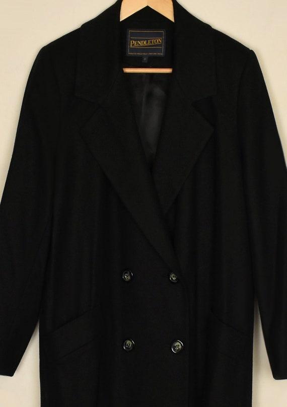 Vintage 70s Pendleton Coat- Womens Wool Coat- Bla… - image 9