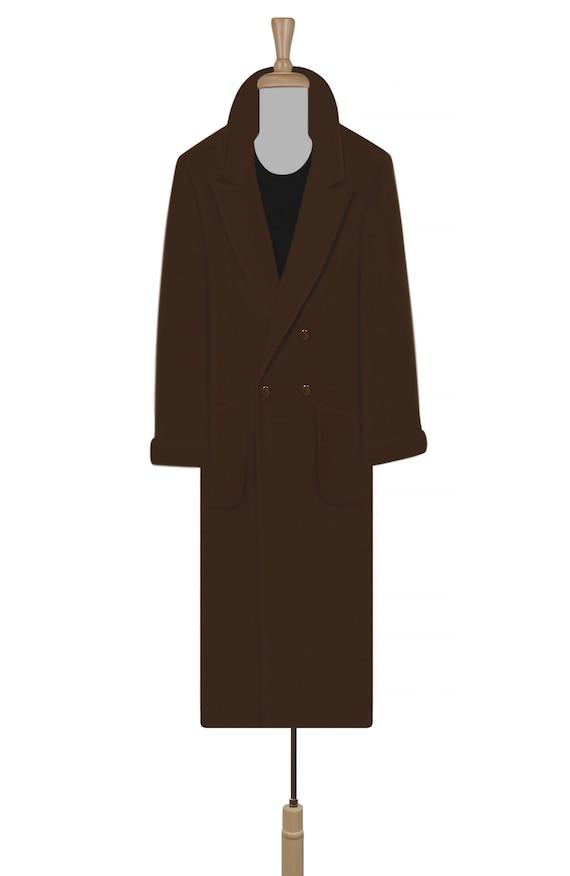 Women's Vintage Coat- Wool Coat- Long Coat- Maxi … - image 2