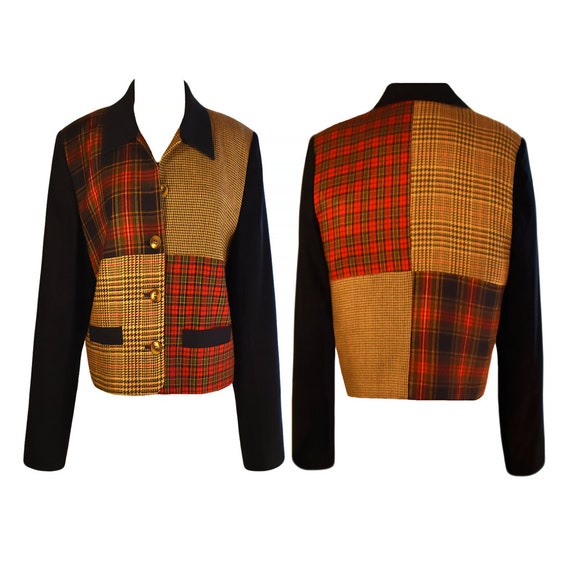 Patchwork Jacket- Womens Wool Jacket- Patchwork Co
