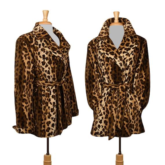 Women's Coat- Leopard Coat- Leopard Print Coat- Fa