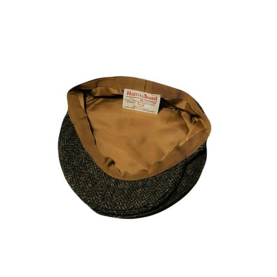 Vintage newsboy cap, men's cabbie hat, tweed hat,