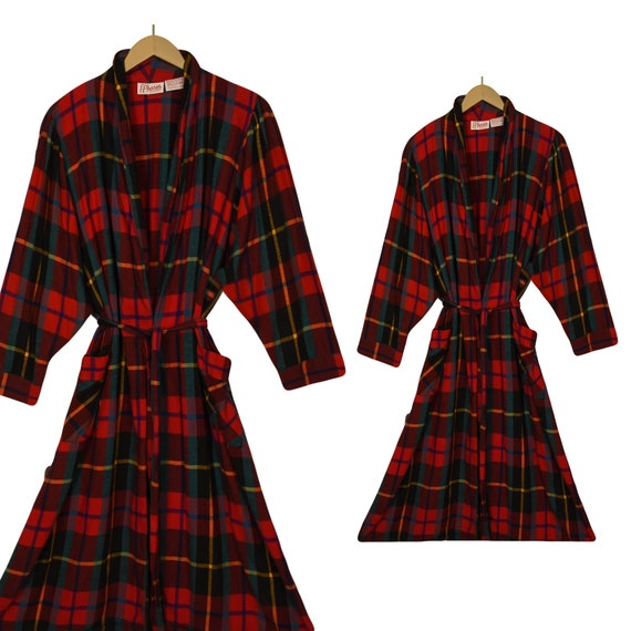Women's Bathrobe- Flannel Robe- Long Robe- Cotton
