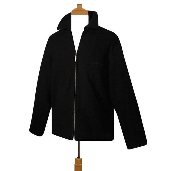 Mens Winter Coat- Winter Jacket- Wool Coat- Black