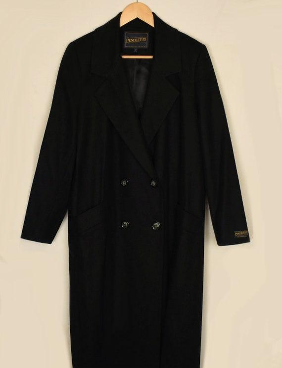Vintage 70s Pendleton Coat- Womens Wool Coat- Bla… - image 8