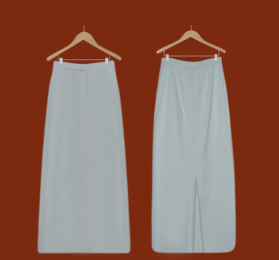 White Maxi Skirt Women- Long White Skirt- White De