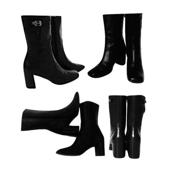 Boots Black Boots Mid Calf