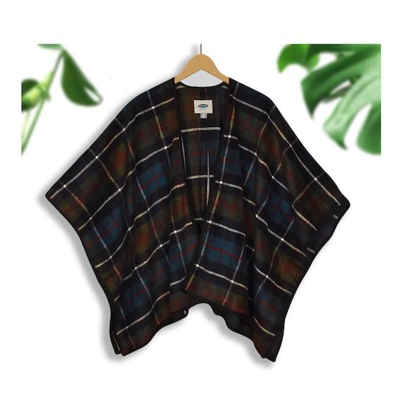 Blanket Coat- Wool Blanket Coat- Plaid Blanket Wra