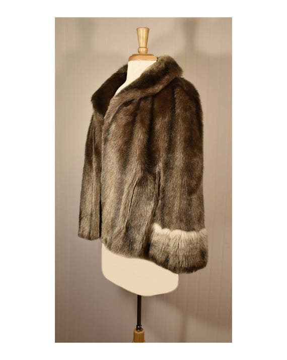 Vintage Faux Fur Cape- Fur Cape- Faux Fur Jacket-… - image 7