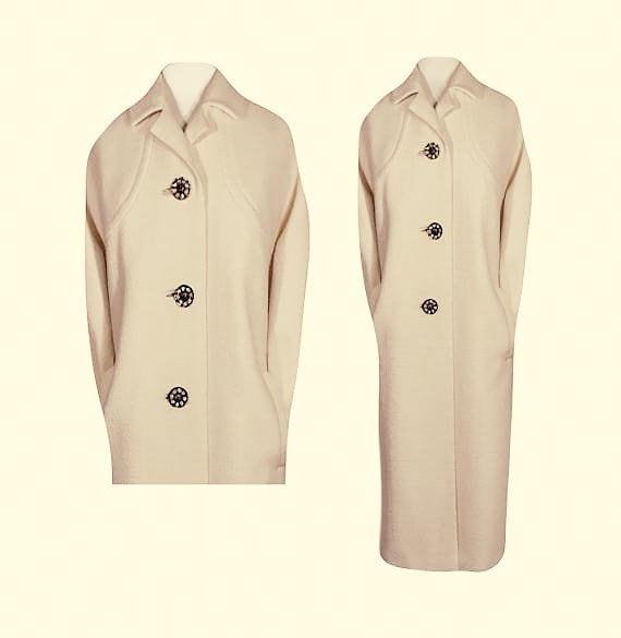 Womens Coat, Long White Coat, Long Coat, White Coa