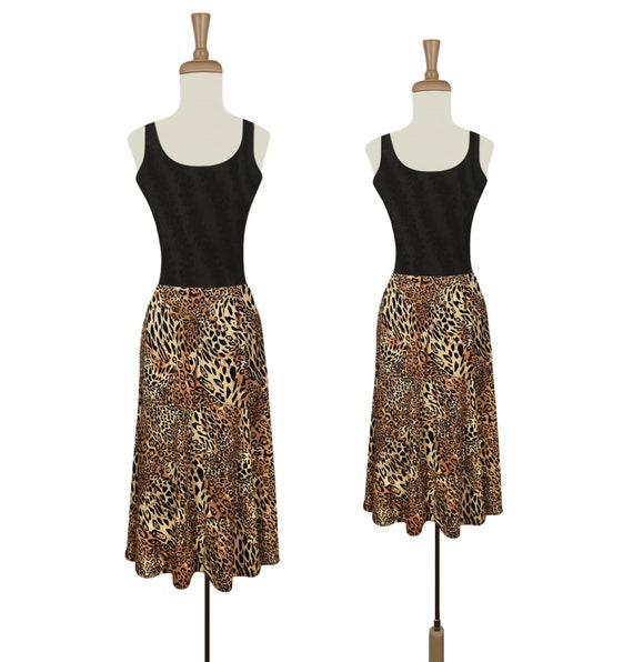 Leopard Print Skirt- Leopard Print- Animal Print-
