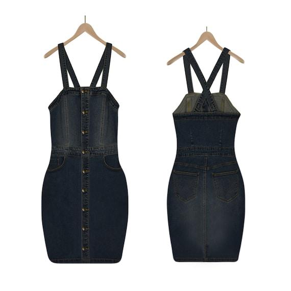 Denim Dress- Jean Dress- Blue Jean Dress- Criss-Cr