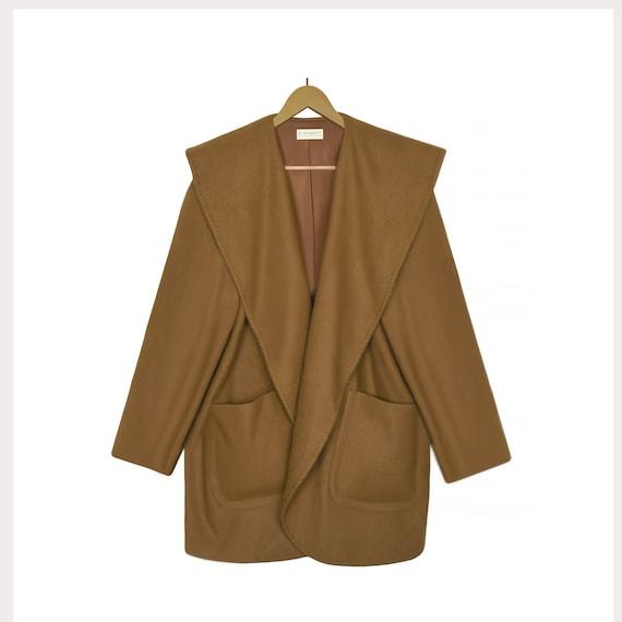 Women's Wool Coat- Shawl Collar Coat- Wool Blanket