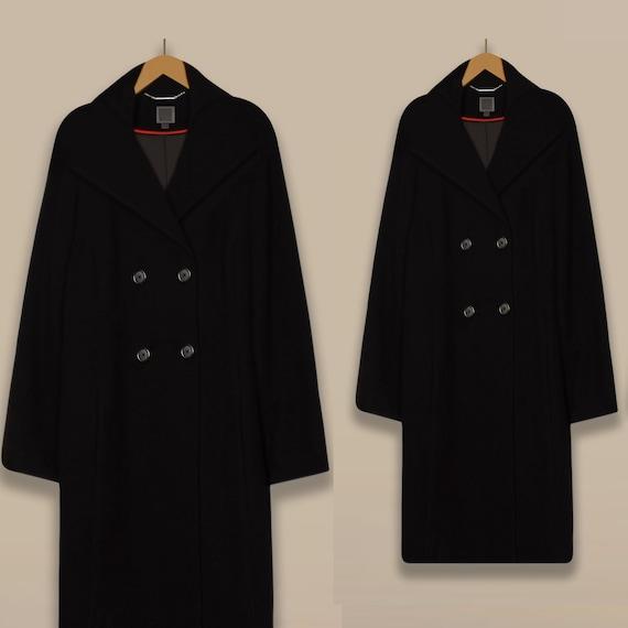 Ladies Winter Coat- Wool Coat- Black Coat- Maxi Co