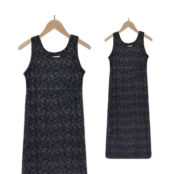 Denim Maxi Dress- Jean Dress- Denim Dress- Blue Je