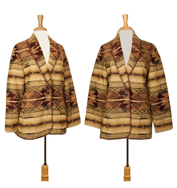 Tapestry Jacket- Tribal Jacket- Tapestry Coat- Eth