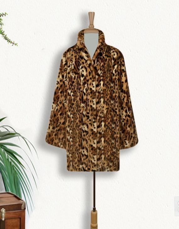 Women's Leopard Coat- Leopard Print Coat- Animal … - image 2