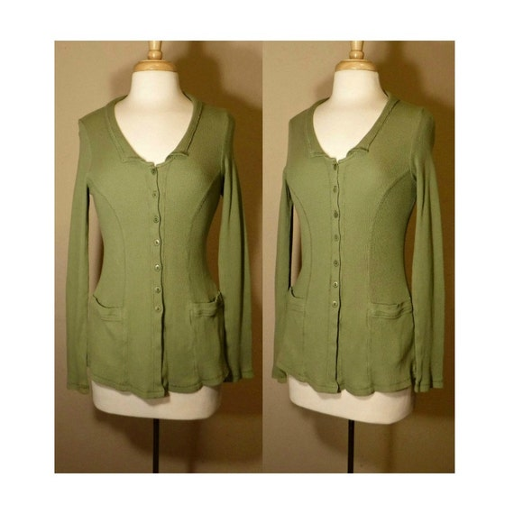 Women's shirt, vintage FLAX shirt, knit shirt, but