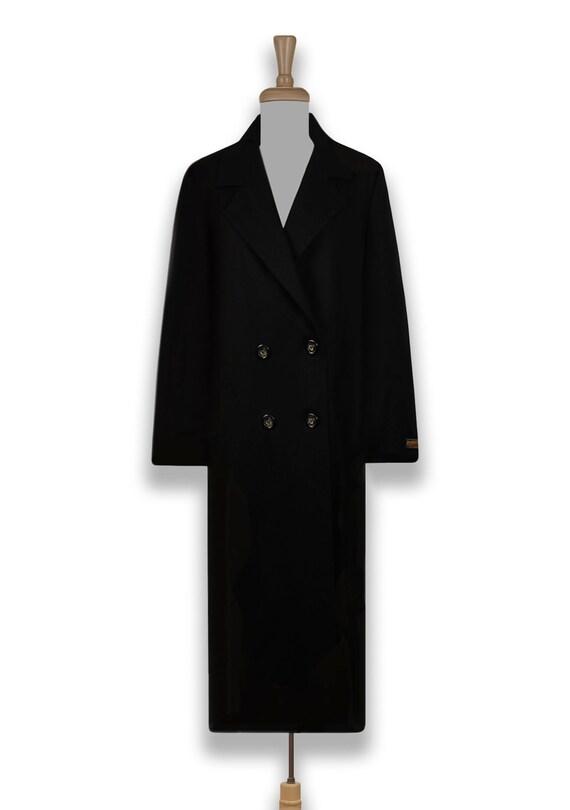 Vintage 70s Pendleton Coat- Womens Wool Coat- Bla… - image 2
