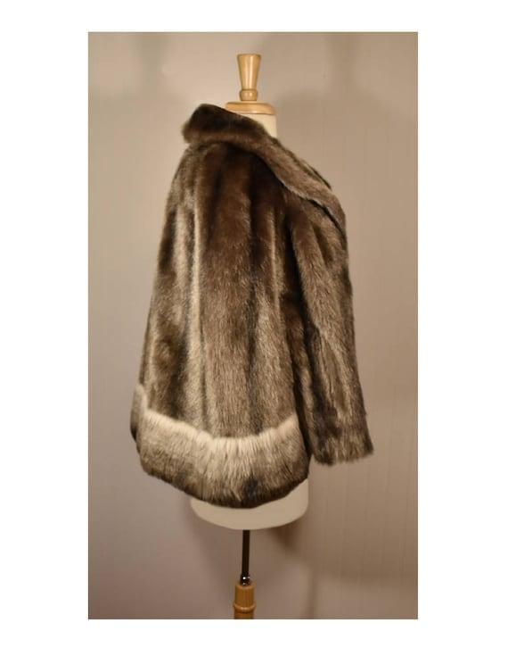 Vintage Faux Fur Cape- Fur Cape- Faux Fur Jacket-… - image 8