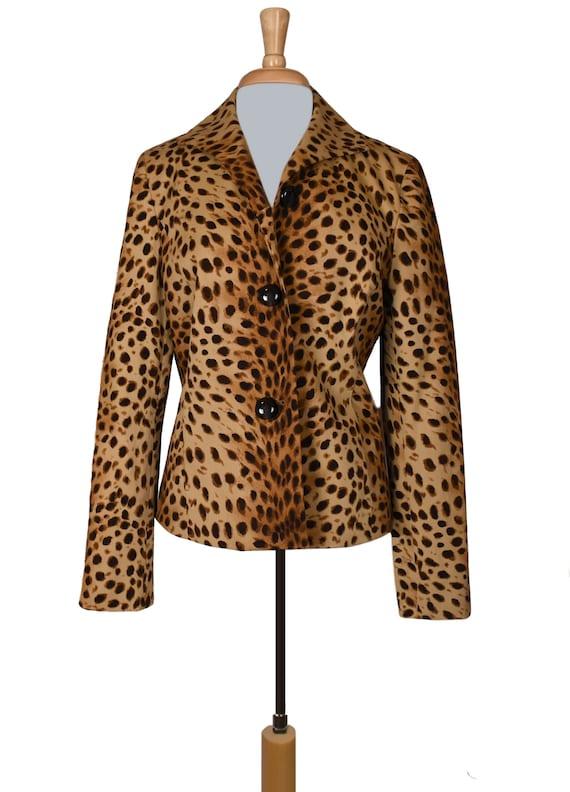 Leopard Jacket- Leopard Coat- Leopard Print Jacke… - image 2