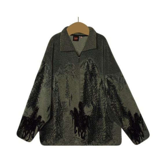 Women's Sherpa Jacket- Sherpa Coat- Horse Jacket-